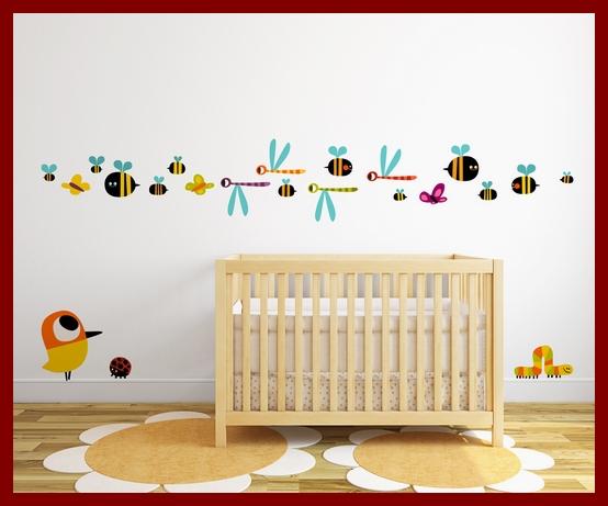 Vinilos-decorativos-Insectos y P+íjaro - Alla Kinda - Stickway - Imagen 3