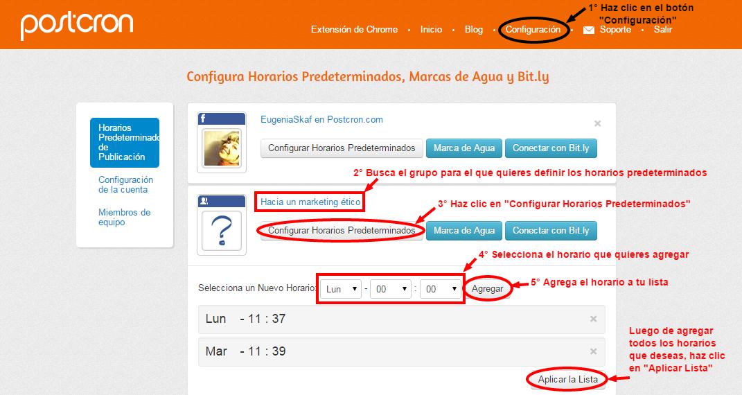 Horarios-Predeterminados-Postcron